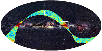 Surimposition of PLANCK first observations on the whole sky at optical wavelengths