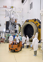 Planck and Herschel in the clean room at CSG