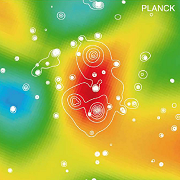 This image shows the newly discovered supercluster of galaxies detected by Planck